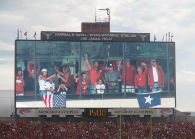 Scoreboard at Darrell K Royal - Texas Memorial Stadium