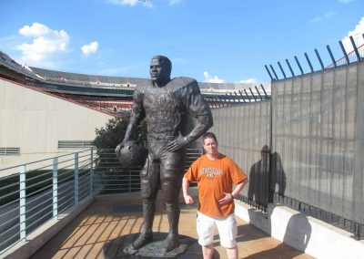 Statue Outside Darrell K Royal - Texas Memorial Stadium
