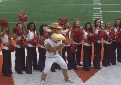 Longhorns Mascot and Cheerleaders at Darrell K Royal - Texas Memorial Stadium