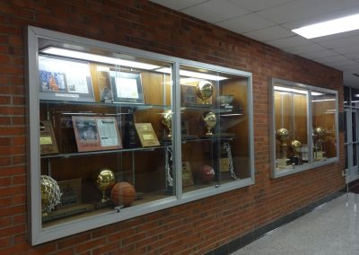 Alumni Coliseum, Eastern Kentucky Colonels Trophies in the Concourse