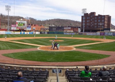Appalachian Power Park, View from Behind the Plate
