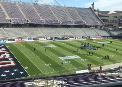 Armed Forces Bowl at Amon G. Carter Stadium, Field Set-up