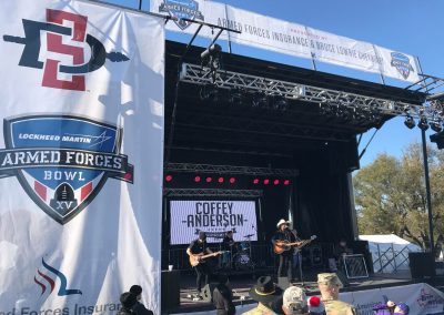 Armed Forces Bowl at Amon G. Carter Stadium, Pre-game Music Performances