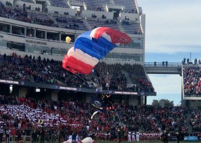 Armed Forces Bowl at Amon G. Carter Stadium, Pre-game Parachutist Arrival
