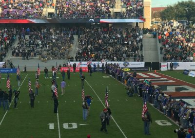 Armed Forces Bowl at Amon G. Carter Stadium, Purple Heart Recipients