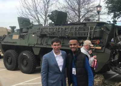 Armed Forces Bowl at Amon G. Carter Stadium, Secretary of the Army Mark Esper Greeting Fans