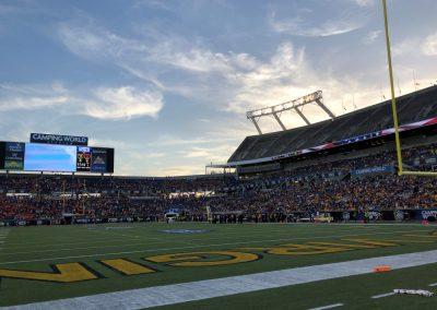 Camping World Bowl, Sunset over Camping World Stadium