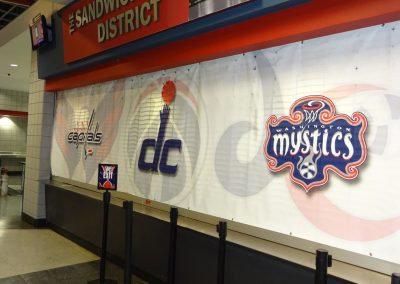 Capital One Arena, Décor in Concourse