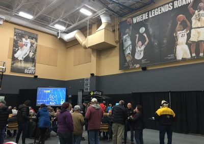 Coors Event Center, Colorado Buffaloes Basketball Banners in Concourse