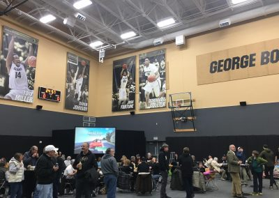 Coors Event Center, Colorado Buffaloes Basketball Banners in Lobby