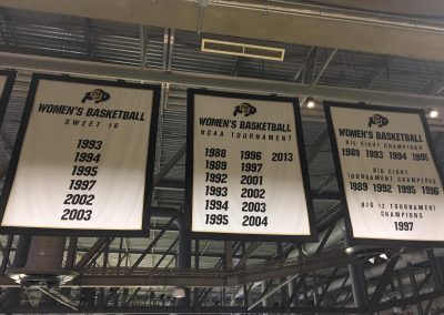 Coors Event Center, Colorado Buffaloes Championship Banners