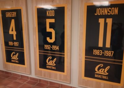 Haas Pavilion, Retired Cal Numbers