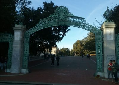 Haas Pavilion, the Sather Gate - Site of Many Historic Political Activities
