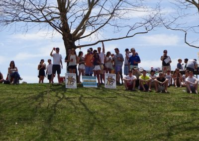 J. David Walker Field at Legacy Park, Lehigh Mountain Hawks Fans Watching from the Hill