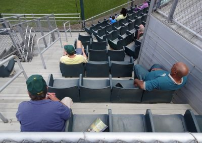 Plumeri Park, William & Mary Tribe Fans Looking On