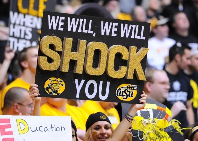 Wichita State fans Are ready for the Sycamores during the NCAA