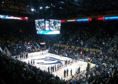The National Anthem at Haas Pavilion