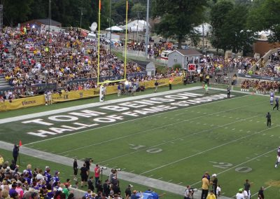 Tom Benson Hall of Fame Stadium, End Zone