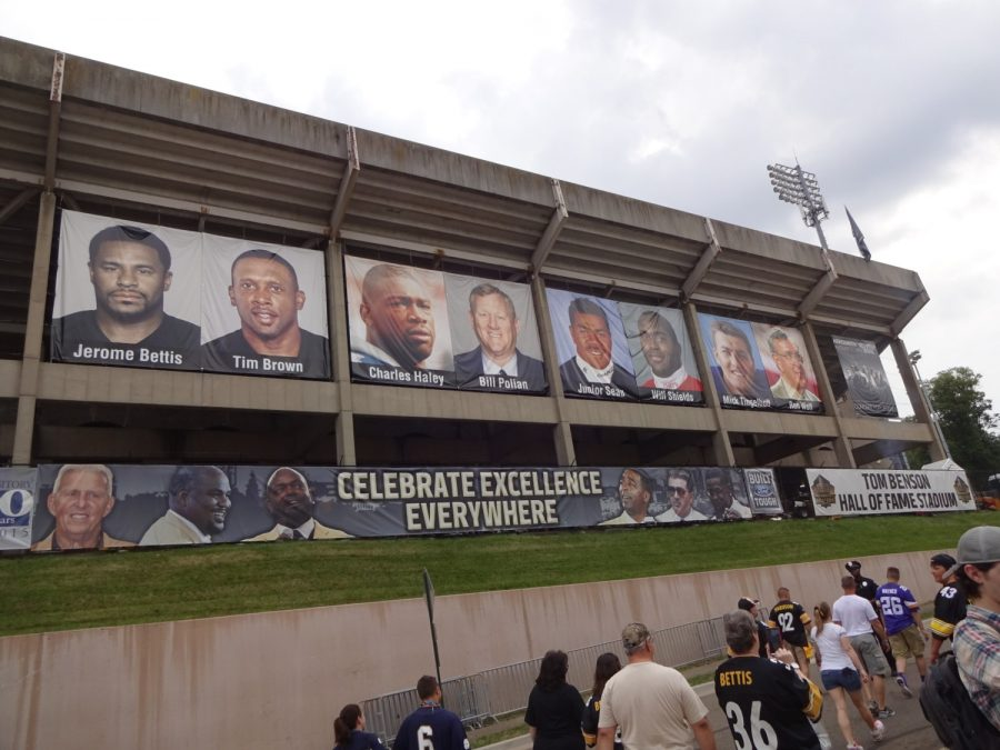Tom Benson Hall of Fame Stadium, Introducing this Year's Hall of Fame Inductees