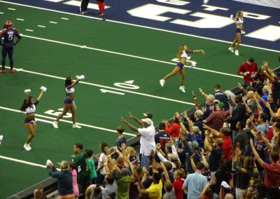Capital One Arena, Washington Valor Cheerleaders Tossing out T-shirts
