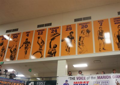 Bill Green Arena Retired Numbers