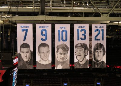 Maple Leafs Honored Player Banners