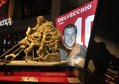 Alex Delvecchio Statue at Little Caesars Arena