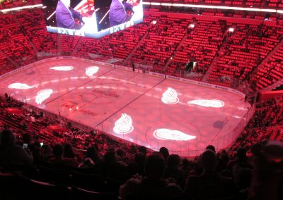 Pregame Ceremonies at Little Caesars Arena