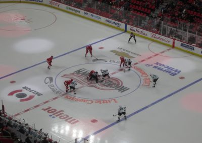 Faceoff at Little Caesars Arena