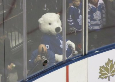 Maple Leafs Mascot at Scotiabank Arena