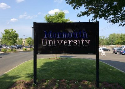 Monmouth University Baseball Field Welcome Sign