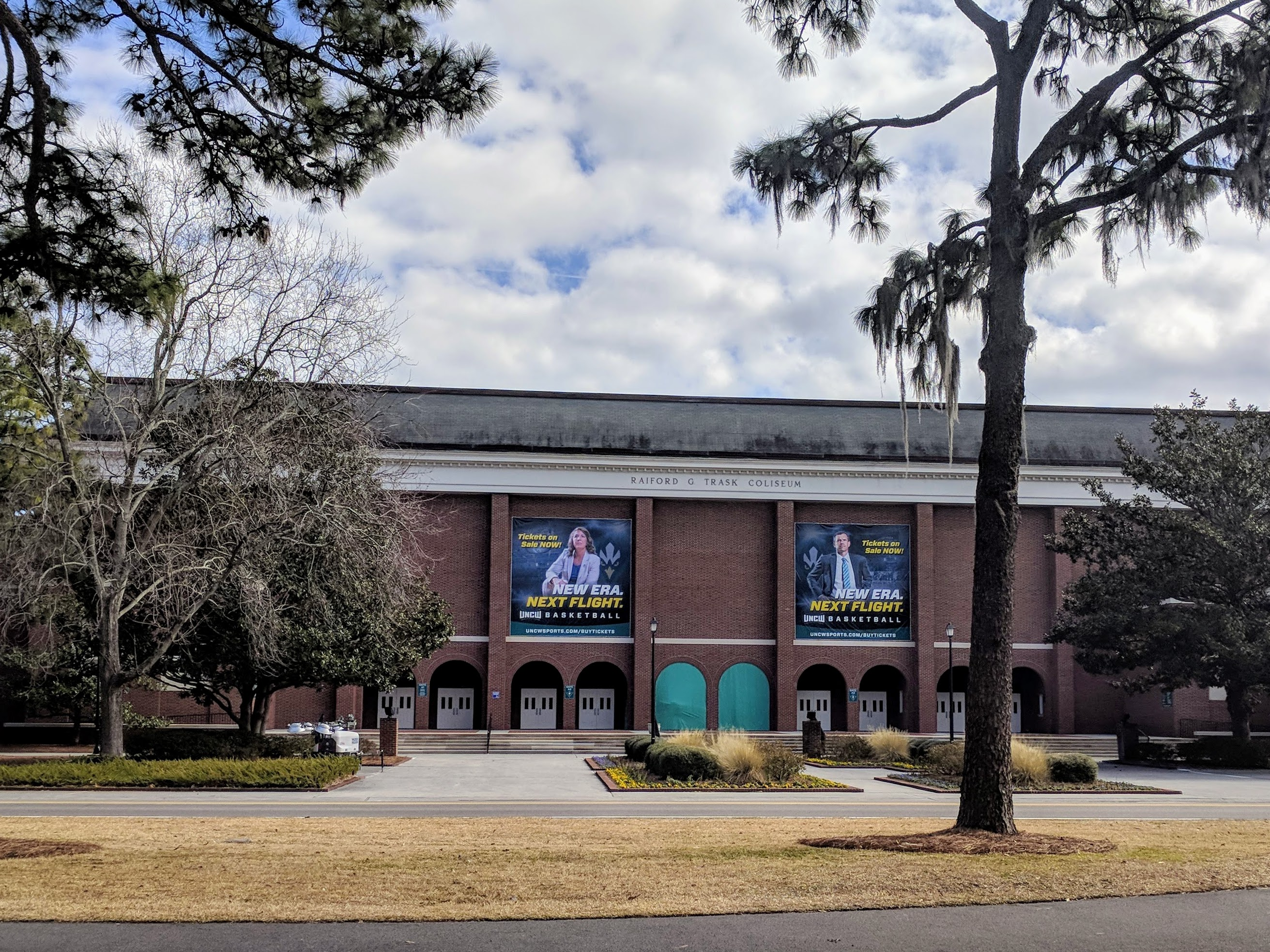 The outside of the Track Coliseum