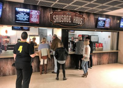 Concessions inside Frank Erwin Center