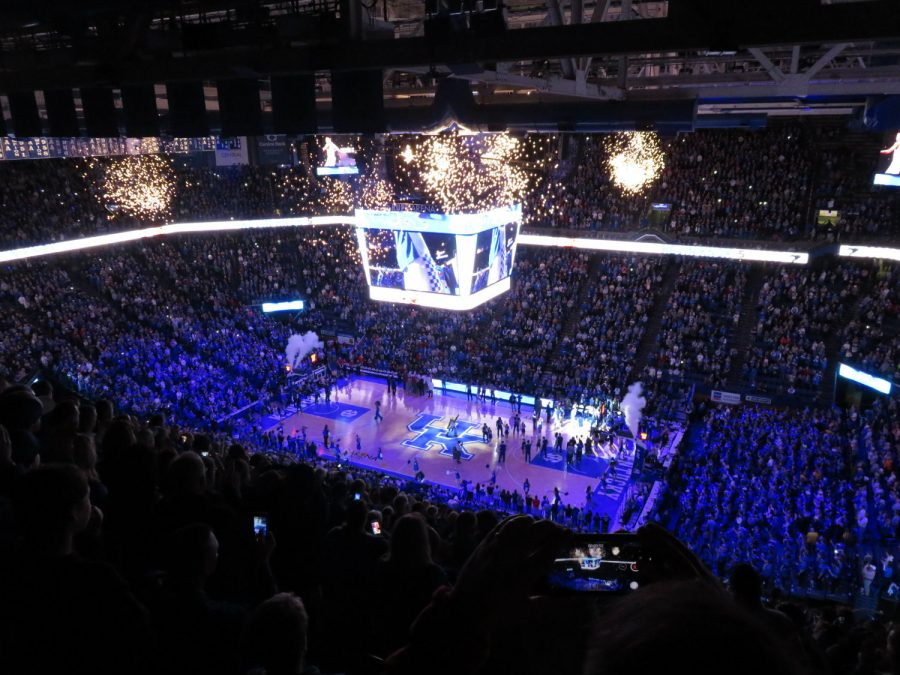 Pregame Introductions at Rupp Arena