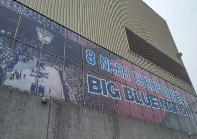 Banners on Rupp Arena Exterior
