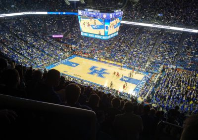 View from the Rafters at Rupp Arena