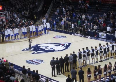National Anthem at Gampel Pavilion