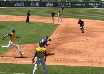 Baylor Ballpark Game Action