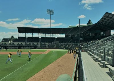 Baylor Ballpark, View down Third Baseline