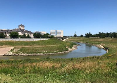 View of Brays Bayou and the University of Houston Campus from MacGregor Park
