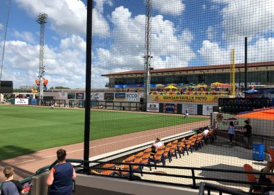 Detroit Tigers Spring Training at Publix Field at Joker Marchant Stadium, Outback Dugout Seating