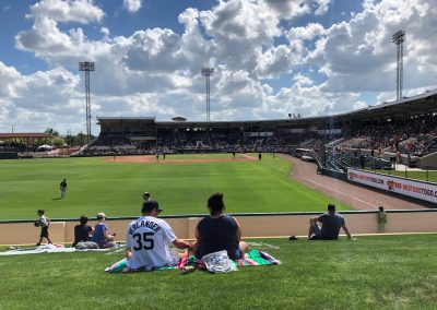 Detroit Tigers Spring Training at Publix Field at Joker Marchant Stadium, View from the Berm