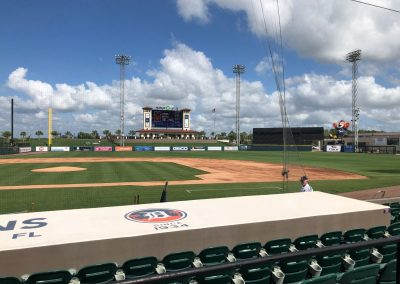 Detroit Tigers Spring Training at Publix Field at Joker Marchant Stadium, View from the Dugout Seating