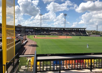 Detroit Tigers Spring Training at Publix Field at Joker Marchant Stadium, View from the Outfield Runway