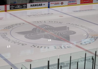 Oceanic Logo at Centre Ice