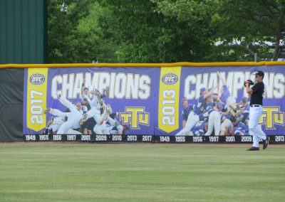 Banner Year on Outfield Walls