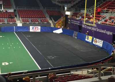 Bojangles' Coliseum, Hand-me-down Turf in the End Zones