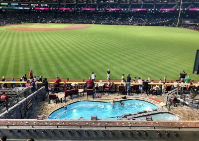 Chase Field, View from above Swimming Pool