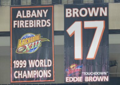 Banners Hang at Times Union Center