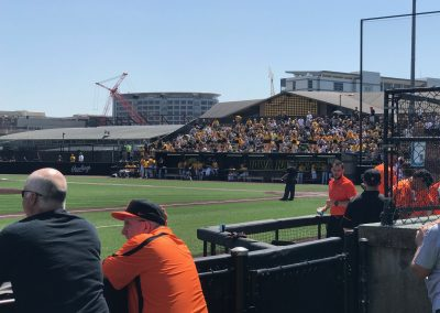 View from Standing Area of Duane Banks Field